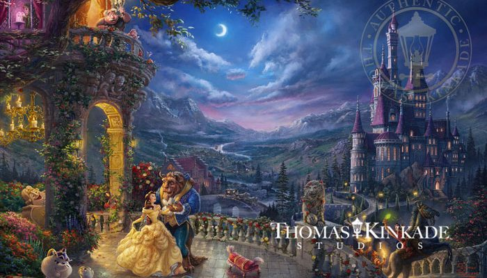 Beauty and the Beast Dancing in the Moonlight – Limited Edition Art