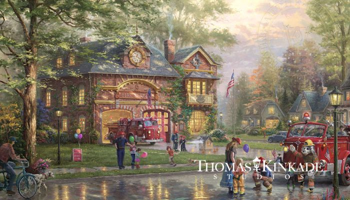 Home Town Firehouse Limited Edition Art