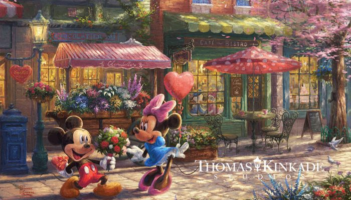 Mickey and Minnie - Sweetheart Cafe Limited Edition Artwork