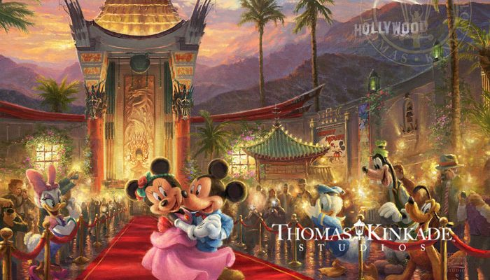 Mickey and Minnie in Hollywood – Limited Edition Art