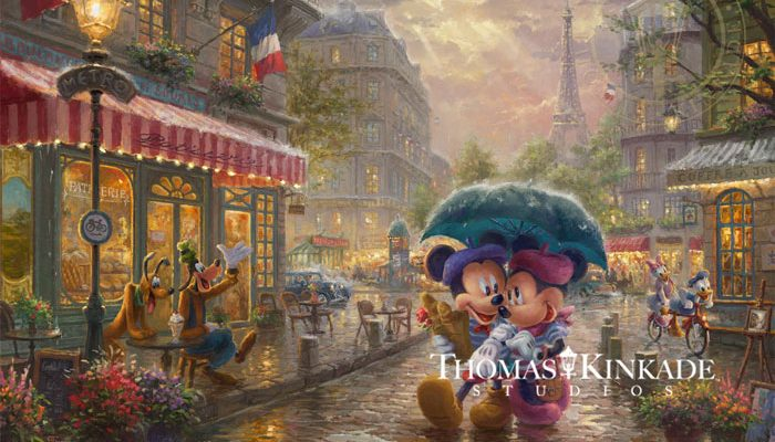 Mickey and Minnie in Paris – Limited Edition Art