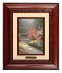 Afternoon Light, Dogwood - Brushwork (Brandy Frame)