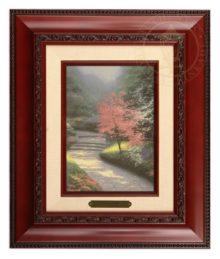 Afternoon Light, Dogwood - Brushwork (Brandy Frame)