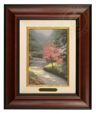 Afternoon Light, Dogwood - Brushwork (Burl Frame)