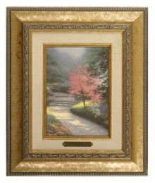 Afternoon Light, Dogwood - Brushwork (Gold Frame)