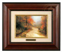 Autumn Lane - Brushwork (Burl Frame)