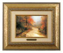 Autumn Lane - Brushwork (Gold Frame)