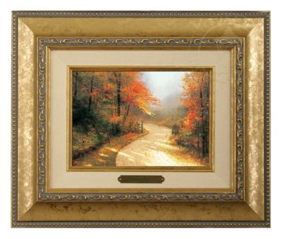 Autumn Lane - Brushwork (Gold Frame)