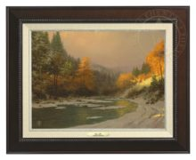 Autumn Snow - Canvas Classic (Espresso Frame)