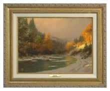 Autumn Snow - Canvas Classic (Gold Frame)