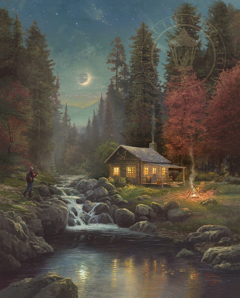 New Jersey Home Painting From J S Painting: Thomas Kinkade Galleries Of New York