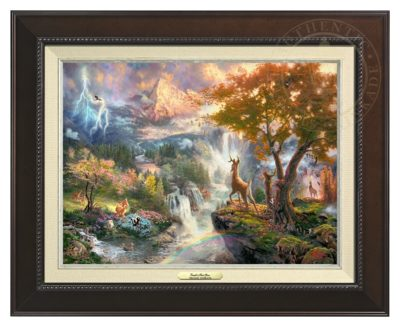 Bambi's First Year - Canvas Classic (Espresso Frame)