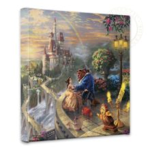 """Beauty and the Beast Falling in Love - 14"""" x 14"""" Gallery Wrapped Canvas"""