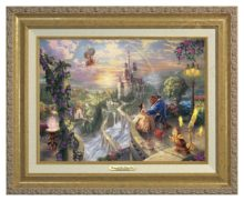 Beauty and the Beast Falling in Love - Canvas Classic (Gold Frame)