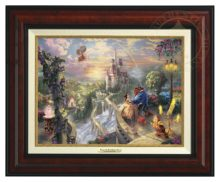 Beauty and the Beast Falling in Love - Canvas Classic (Burl Frame)