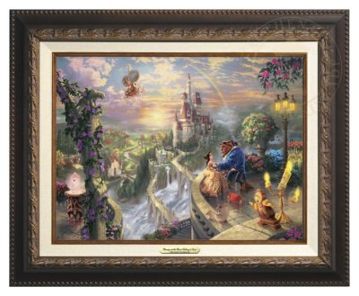 Beauty and the Beast Falling in Love - Canvas Classic (Aged Bronze Frame)
