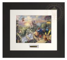 Beauty and the Beast Falling in Love - Modern Home Collection (Espresso Frame)