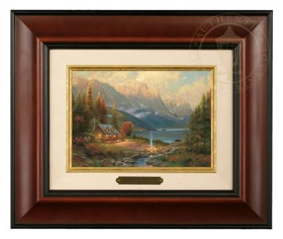 Beginning of a Perfect Day - Brushwork (Burl Frame)