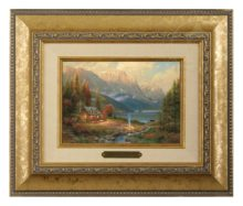 Beginning of a Perfect Day - Brushwork (Gold Frame)