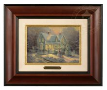 Blessings of Christmas - Brushwork (Burl Frame)