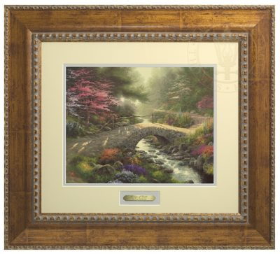Bridge of Faith - Prestige Home Collection (Antiqued Gold Frame)
