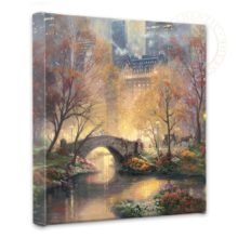 """Central Park in the Fall - 14"""" x 14"""" Gallery Wrapped Canvas"""