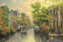 Charleston, Sunset on Rainbow Row