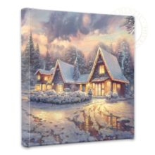 """Christmas Lodge - 14"""" x 14"""" Gallery Wrapped Canvas"""