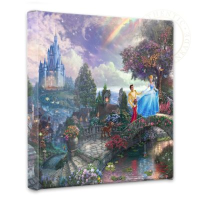 "Cinderella Wishes Upon a Dream - 14"" x 14"" Gallery Wrapped Canvas"