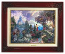 Cinderella Wishes Upon a Dream - Canvas Classic (Brandy Frame)