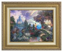 Cinderella Wishes Upon a Dream - Canvas Classic (Gold Frame)