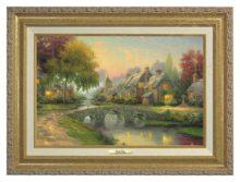 Cobblestone Bridge - Canvas Classic (Gold Frame)