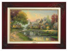 Cobblestone Bridge - Canvas Classic (Brandy Frame)