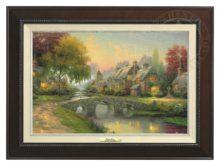 Cobblestone Bridge - Canvas Classic (Espresso Frame)