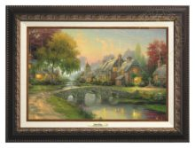 Cobblestone Bridge - Canvas Classic (Aged Bronze Frame)