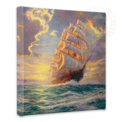 """Courageous Voyage - 14"""" x 14"""" Gallery Wrapped Canvas"""