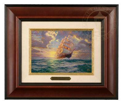 Courageous Voyage - Brushwork (Burl Frame)