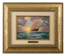 Courageous Voyage - Brushwork (Gold Frame)