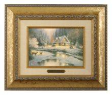 Deer Creek Cottage - Brushwork (Gold Frame)