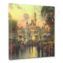 """Disneyland, 50th Anniversary - 14"""" x 14"""" Gallery Wrapped Canvas"""