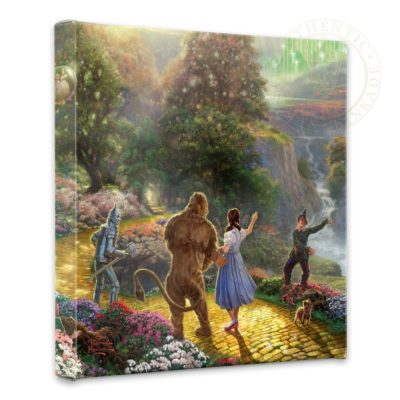 """Dorothy Discovers the Emerald City - 14"""" x 14"""" Gallery Wrapped Canvas"""