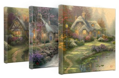 "Everett's Cottage - 14"" x 14"" Gallery Wrapped Canvas (bad)"