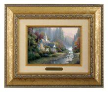 Forest Chapel, The - Brushwork (Gold Frame)
