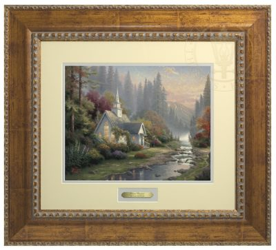 Forest Chapel, The - Prestige Home Collection (Antiqued Gold Frame)