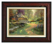 Friendship Cottage - Canvas Classic (Burl Frame)