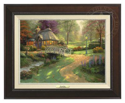Friendship Cottage - Canvas Classic (Espresso Frame)