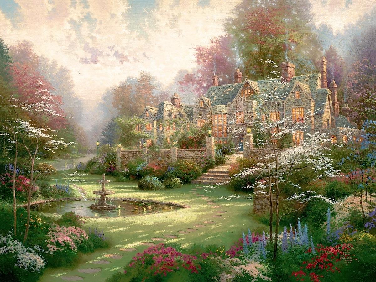 Gardens Beyond Spring Gate Thomas Kinkade Galleries Of