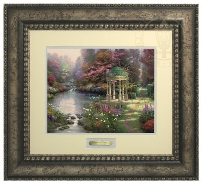 Garden of Prayer, The - Prestige Home Collection (Antiqed Silver Frame)