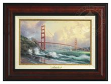 San Francisco, Golden Gate Bridge - Canvas Classic (Burl Frame)