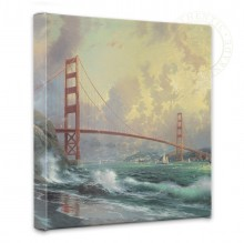 "San Francisco, Golden Gate Bridge - 14"" x 14"" Gallery Wrapped Canvas"